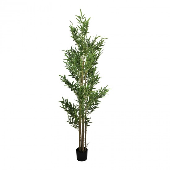 Artificial Bamboo Tree with 7 Real Bamboo Stems, 200cm