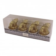 Pack Of 4 Out Of Africa Tiger Tealight Candles
