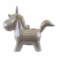 Pearlised Ceramic Unicorn Money Box