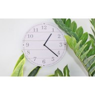 Potting Shed Clock in Rustic White