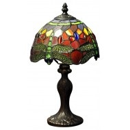 Red Dragonfly Tiffany Lamp
