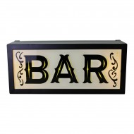 Retro Style Light Box, Bar
