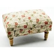 Roses Design Footstool With Drawer