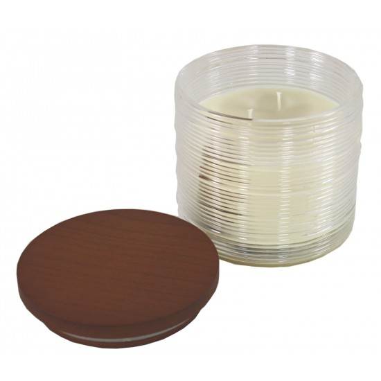 Ribbed Embossed Jar Candle - Cotton Fields