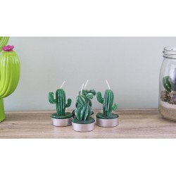 2 x Set of 4 Cactus Tea Light Candles