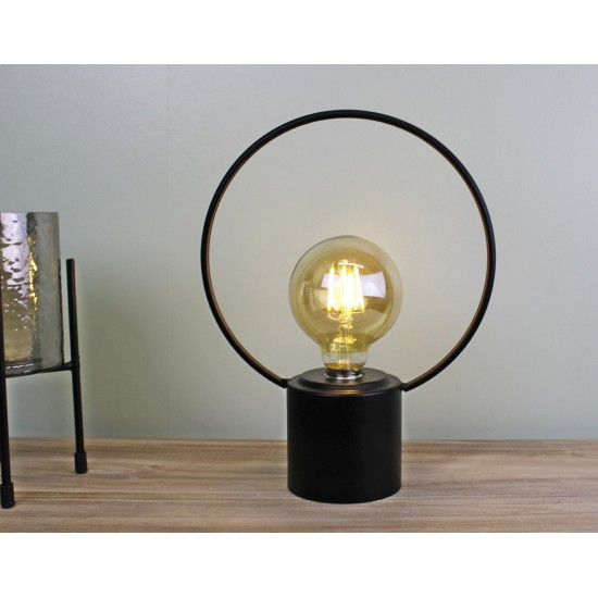 Free Standing Round Wire Lamp