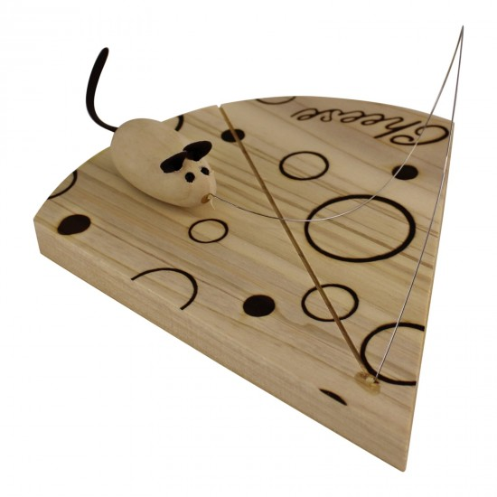 Handcrafted Cheese Board With Wire And Mouse