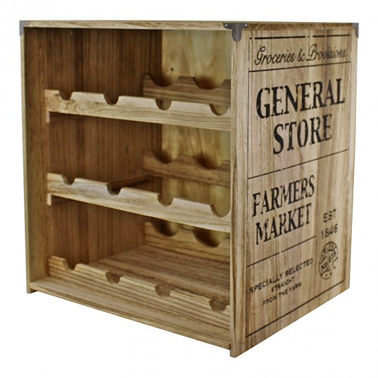 Crate Style Wine Rack Free Standing