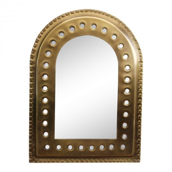Set of 5 Gold Coloured Decorative Mirrors