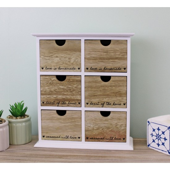 Heart Of The Home 6 Drawer Trinket Storage