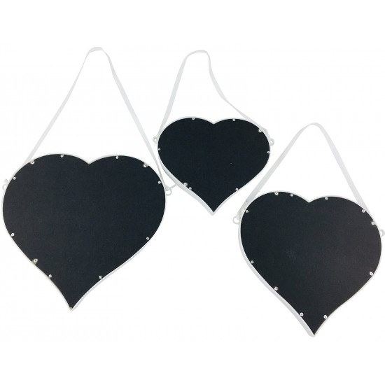 Set of 3 Hanging Heart Mirrors