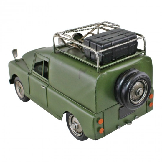 Vintage Style Expedition Vehicle Metal Ornament
