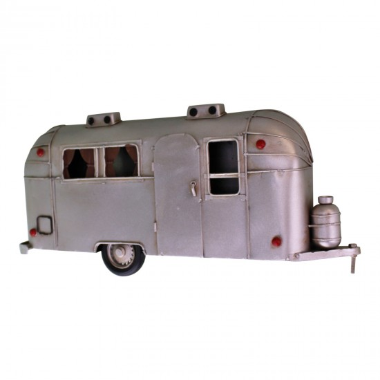 Wall Hanging Silver Metal Camper Decoration