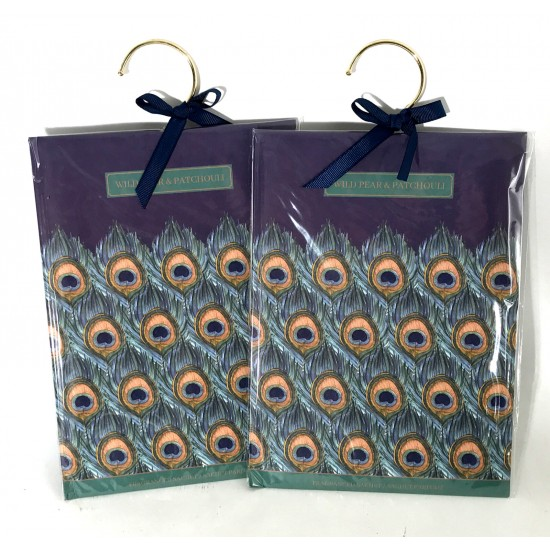 Pair Of Wild Pear & Patchouli Scented Wardrobe Sachet