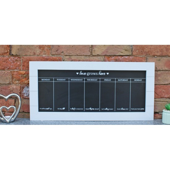67x32 Chalkboard Week Planner, Grey