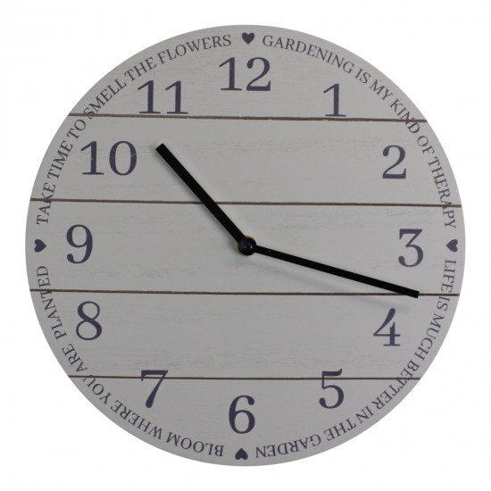 Potting Shed Clock in Sage Green