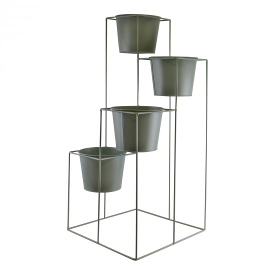 Potting Shed 4 Tier Planter Stand, Green