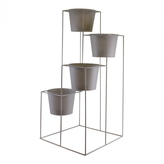 Potting Shed 4 Tier Planter Stand, Grey