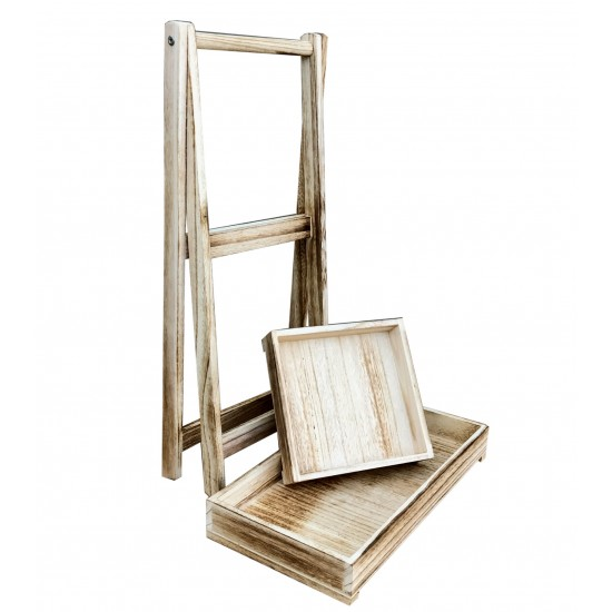 Wooden Free Standing Double Stand