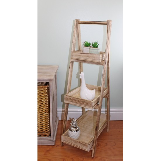 Ladder Style Wooden 3 Tray Stand