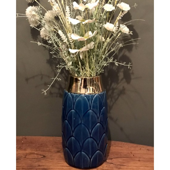 Art Deco Vase - Blue