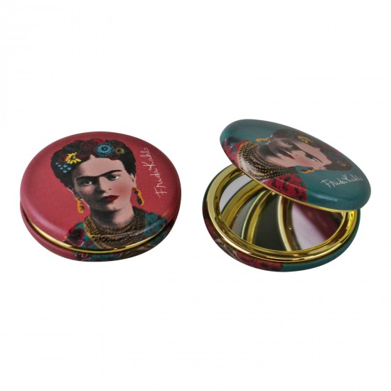 Set of 2 Frida Kahlo Design Compact Mirrors