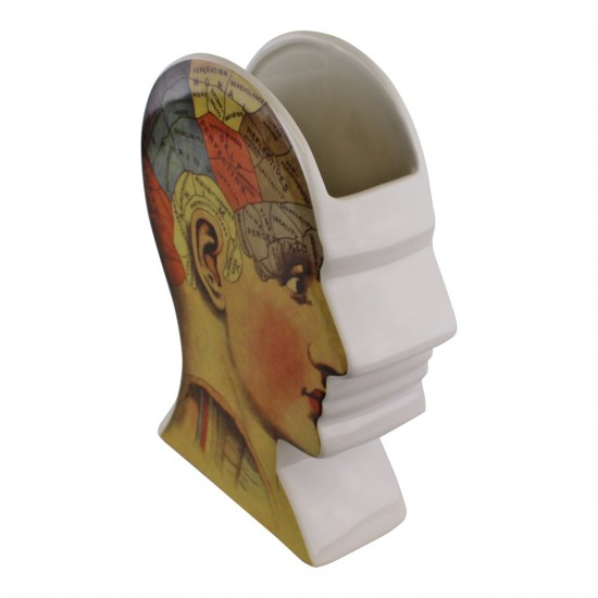 Ceramic Phrenology Head Vase