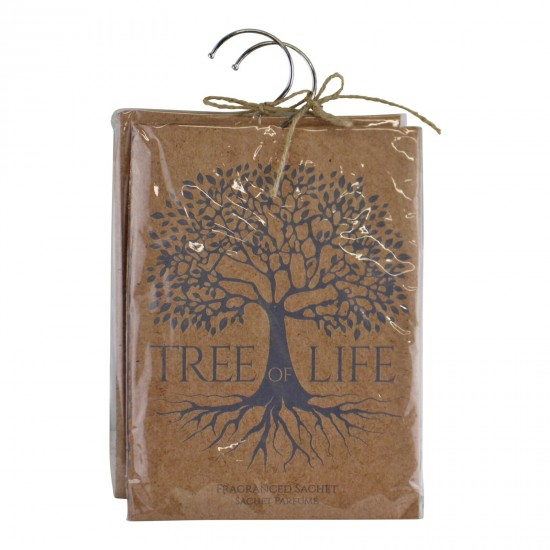 Set of 2 Tree Of Life, Sandalwood Fragranced Sachets