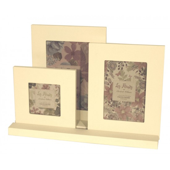 Set Of Three White Painted Frames On Tray