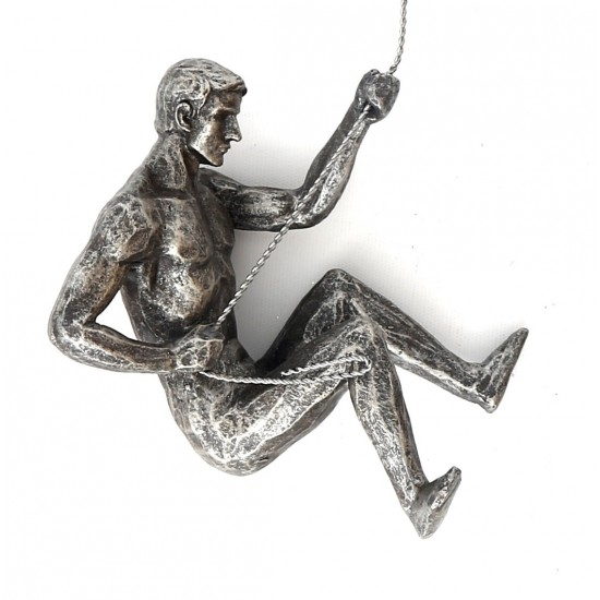 Silver Abseiling Man Looking Down 73cm