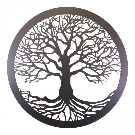 Tree Of Life Silver Metal Wall Decor