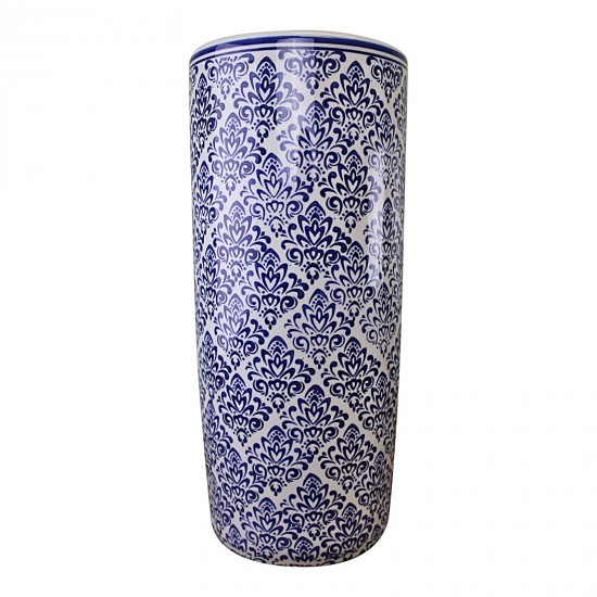 Umbrella Stand, Vintage Blue & White Pattern Design