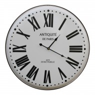 Vintage French Style White Metal Clock, 62cm