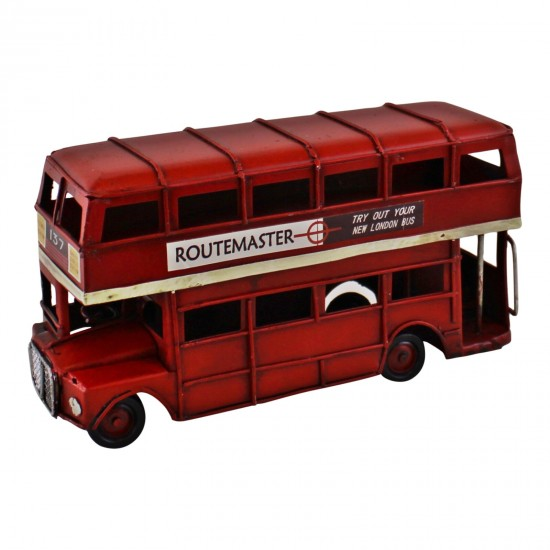Vintage Style Red London Bus Ornament