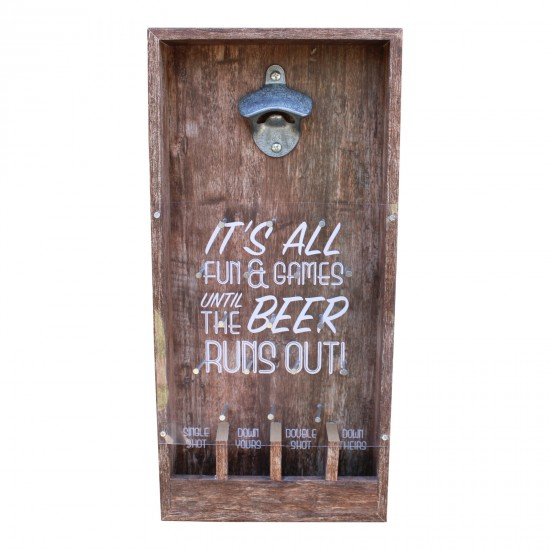 Wall Hanging Bottle Top Drinking Game, Small