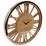 Wooden Clock With Glass Cover 48cm