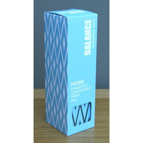 Blue Boxed Balance Reed Diffuser - Ocean